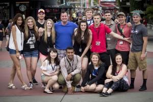 Bellevue DECA team at Universal Studios
