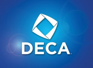 Bellevue DECA presents information about the DECA organization