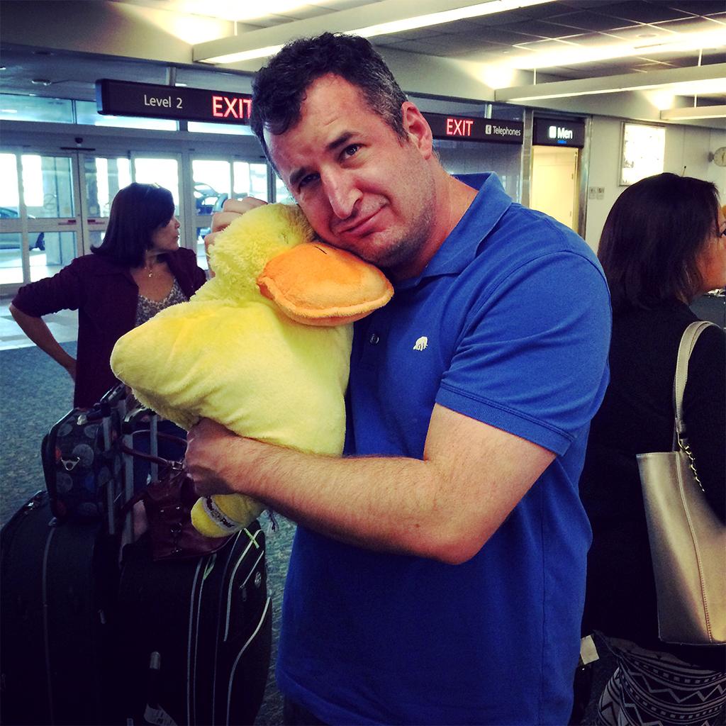Always bring a travel buddy.